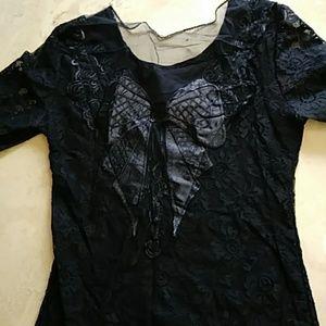 Dresses & Skirts - Black lace top